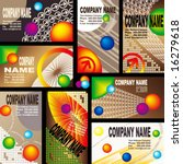 vector collection of card beige ... | Shutterstock .eps vector #16279618