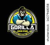 gorilla cartoon character with... | Shutterstock .eps vector #1627968058
