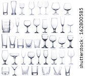Collage of empty glasses...