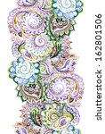 seamless watercolor painted... | Shutterstock . vector #162801506