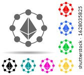etherium coin multi color style ...