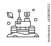 space colony vehicle icon....