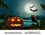 spooky halloween background | Shutterstock .eps vector #162806522