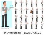 set of waiters  man character...   Shutterstock .eps vector #1628072122