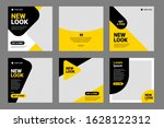 set of editable minimal square... | Shutterstock .eps vector #1628122312