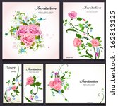 set of floral cards for your... | Shutterstock .eps vector #162813125
