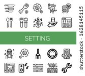 set of setting icons. such as... | Shutterstock .eps vector #1628145115