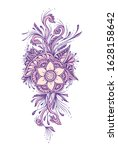 floral decorative bouquet  with ... | Shutterstock .eps vector #1628158642