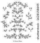 set of vintage decorative... | Shutterstock .eps vector #1628158645