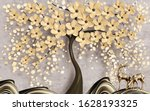 3d Wallpaper  Tree With Flowers ...
