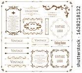beautiful vintage tones frame...   Shutterstock .eps vector #1628218132