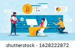 bitcoin traders or miners... | Shutterstock .eps vector #1628222872