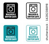 washer   dryer safe information ... | Shutterstock .eps vector #1628238898