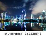 singapore city skyline at night | Shutterstock . vector #162828848