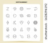 outline 25 cryptocurrency icon...   Shutterstock .eps vector #1628296192