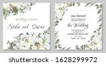 vector template for a wedding... | Shutterstock .eps vector #1628299972