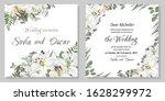 vector template for a wedding...   Shutterstock .eps vector #1628299972