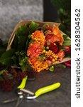 Red And Orange Flower Bouquet...