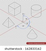 isometric projection grid | Shutterstock .eps vector #162833162