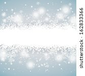 snow on the grey background.... | Shutterstock .eps vector #162833366