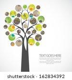 abstract green tree | Shutterstock .eps vector #162834392