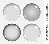 set of translucent empty glass... | Shutterstock .eps vector #1628383858