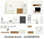 furniture. design living room.... | Shutterstock .eps vector #162838442