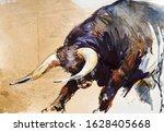 Bull. Animal Illustration....