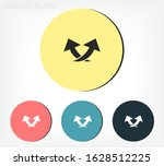 arrow icon. vector eps 10.... | Shutterstock .eps vector #1628512225