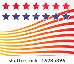 stars and stripes illustration... | Shutterstock . vector #16285396
