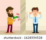 neighbor in apartment drill a... | Shutterstock .eps vector #1628554528