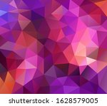 vector background from polygons ... | Shutterstock .eps vector #1628579005