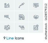 web icon set and raster art...