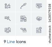 web design icon set and raster...