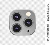 realistic camera lenses 3d icon ... | Shutterstock .eps vector #1628581102
