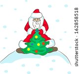 illustration of santa claus   Shutterstock .eps vector #162858518