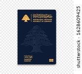 passport of lebanon. vector...   Shutterstock .eps vector #1628609425