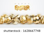 easter holiday background with... | Shutterstock .eps vector #1628667748