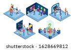 exhibitions isometric vector...   Shutterstock .eps vector #1628669812