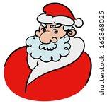 santa claus sketch. handmade | Shutterstock .eps vector #162868025