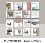 social media pack posts for... | Shutterstock .eps vector #1628729008