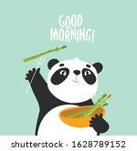 Vector Illustration Of A Panda...