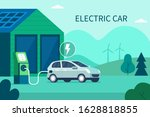 charging electric car battery... | Shutterstock .eps vector #1628818855