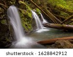 Lower Murhut Falls in Olympic National Forest in Hoodsport, WA
