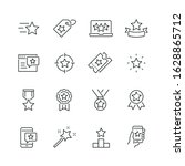 star related icons  thin vector ... | Shutterstock .eps vector #1628865712