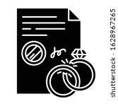 divorce black glyph icon.... | Shutterstock .eps vector #1628967265