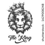 the lion king tattoo.the head... | Shutterstock .eps vector #1629008248