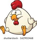 fat chicken clip art. vector... | Shutterstock .eps vector #162902468