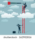 abstract businessman gets a... | Shutterstock . vector #162902816
