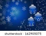 shiny christmas balls... | Shutterstock . vector #162905075